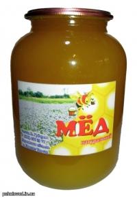 Мед натуральный, Разнотравье+Бахча, 1.5л