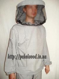 "Куртка пчеловода с маской ""Классика"". Материал: лен"