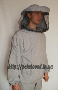 """Куртка пчеловода с маской """"Классика"""". Материал: лен с габардином"""