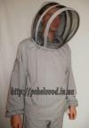 """Куртка пчеловода с маской """"Евро"""". Материал: лен с габардином"""