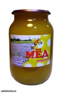 Мед натуральный, Подсолнечник, 1л