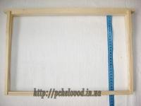 Деревянная ульевая рамка Дадан (435х300 мм)